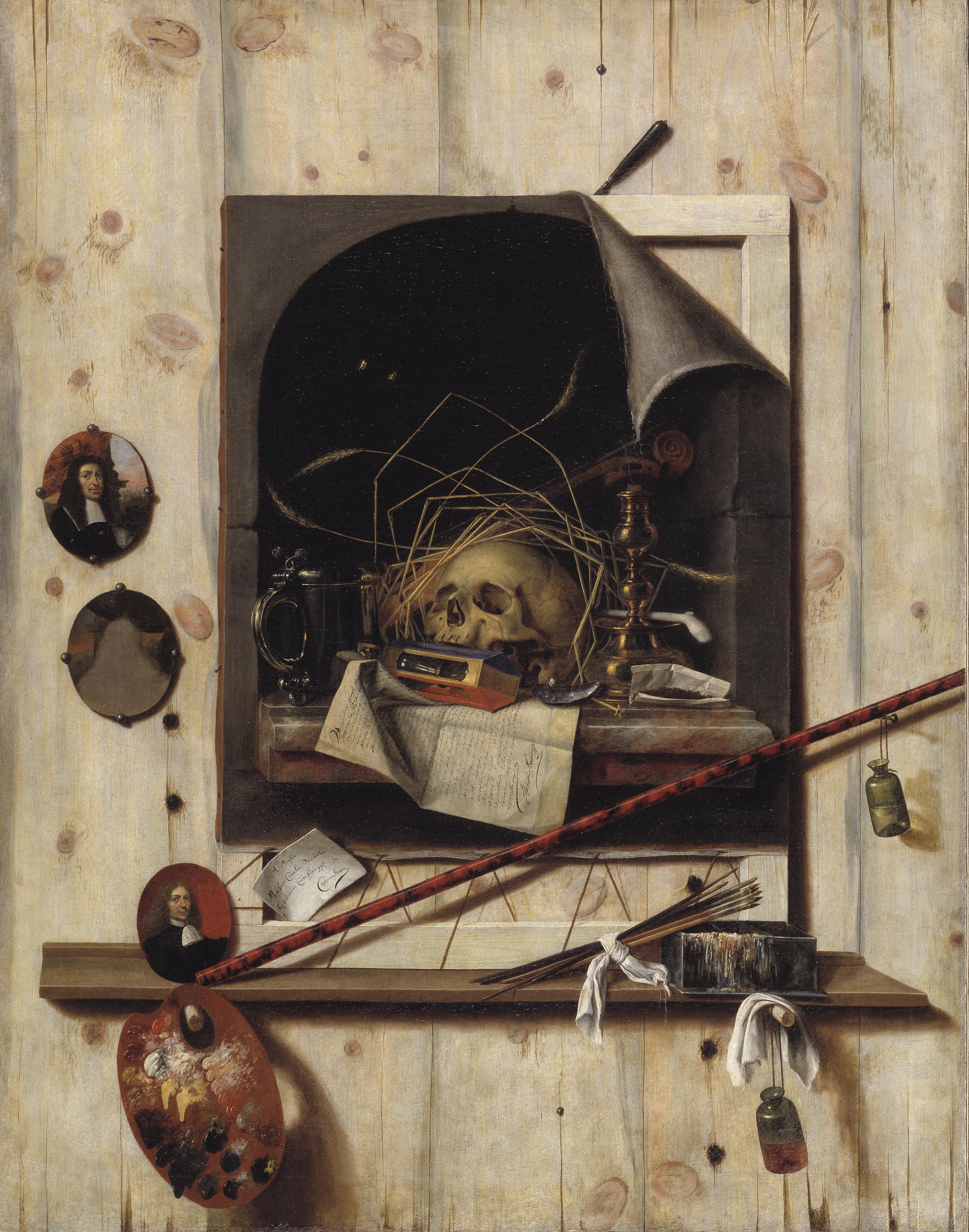 File:Trompe l\'oeil med ateliervæg og vanitas-stilleben.jpg ...