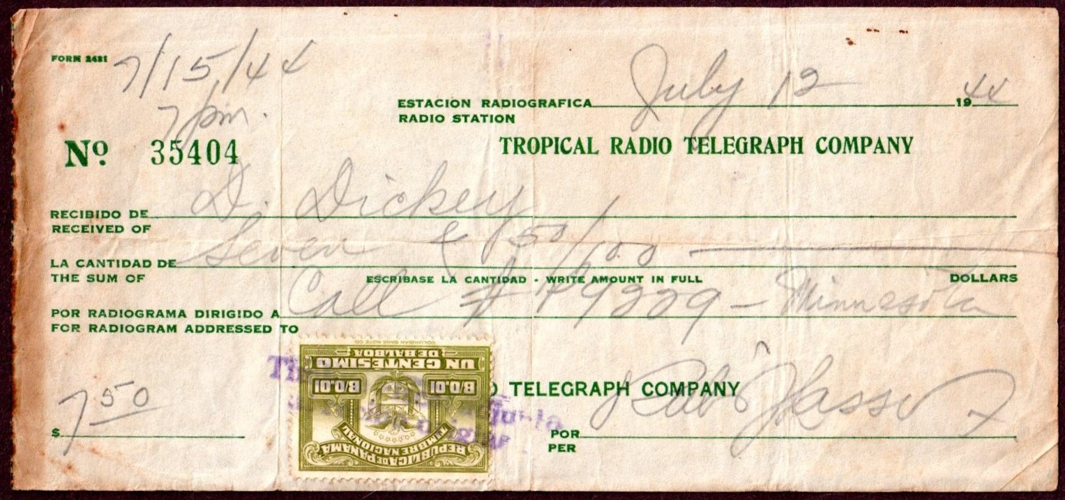 FileTropical Radio Telegraph Company receipt 1944 with Panama – Company Receipt