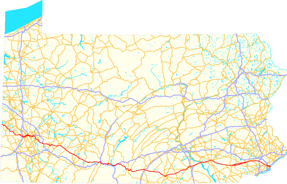 FileUS Route PA Mappng Wikimedia Commons - Road map of pennsylvania