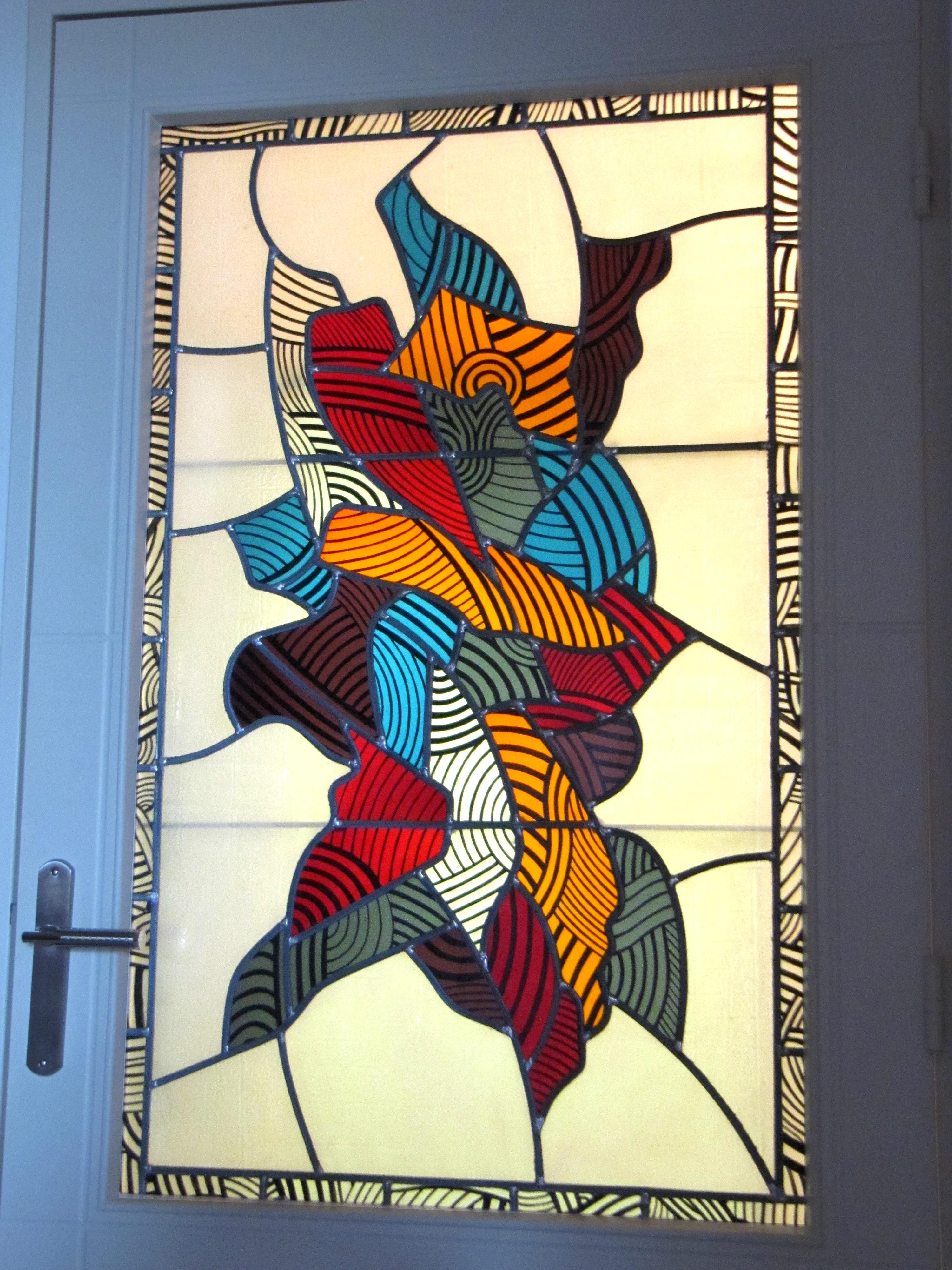 File vitrail au plomb peinture sur verre jpg wikimedia for Art et fenetre nice