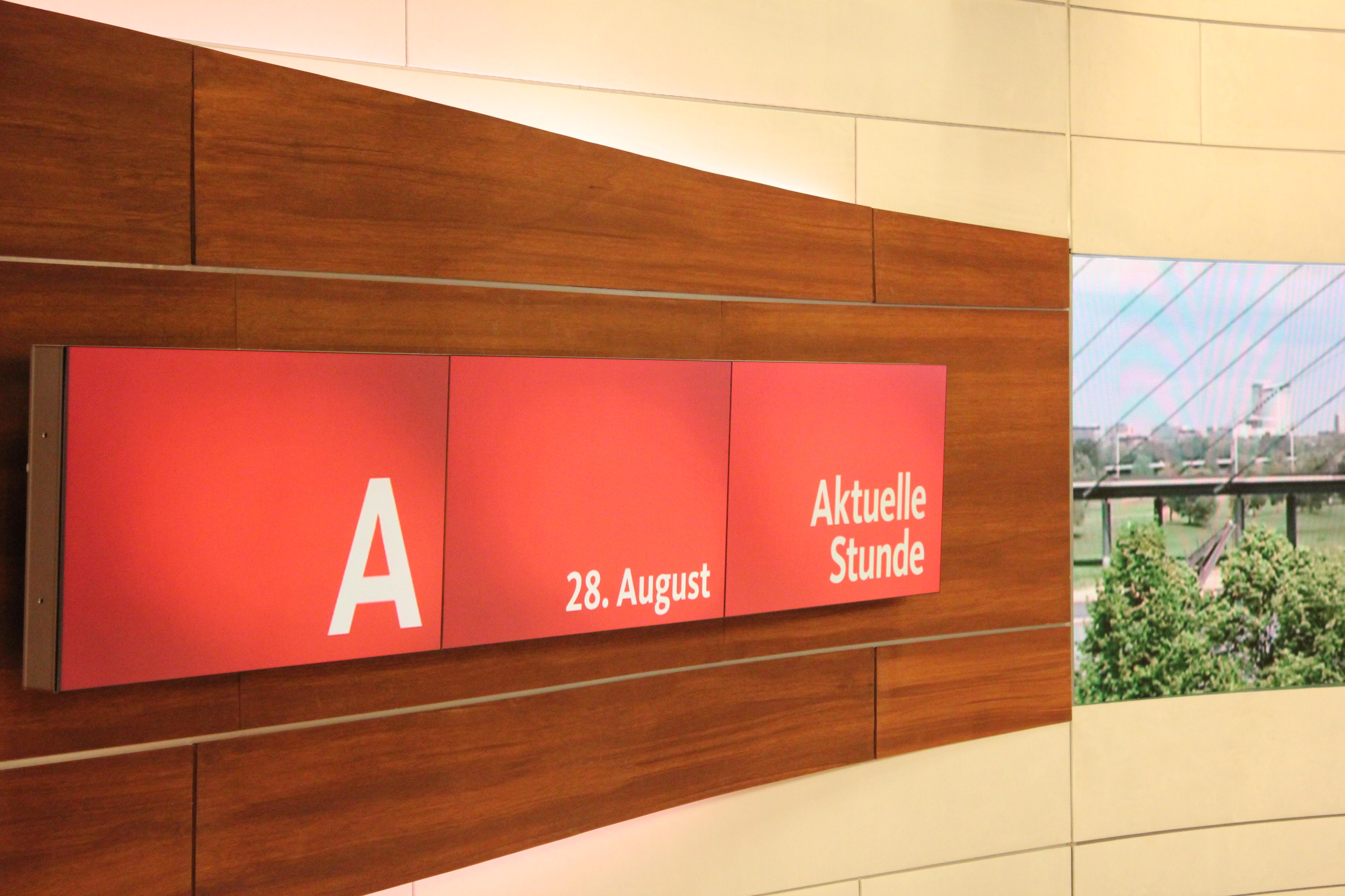 das aktuelle stunde studio bis september 2016