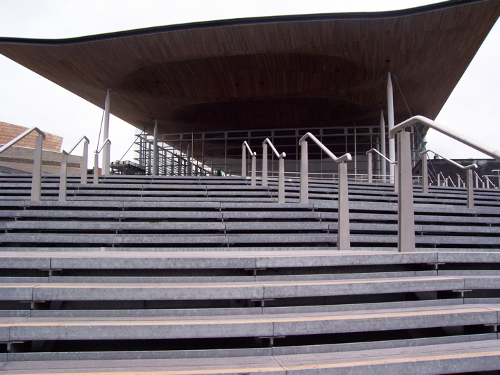 File:Welsh Assembly steps.jpg