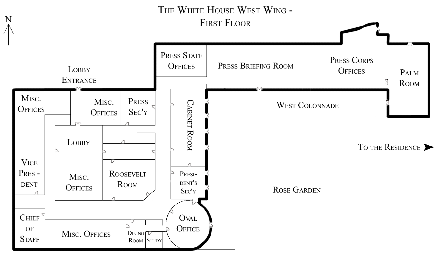 File:White House West Wing - 1st Floor.png - Wikimedia Commons