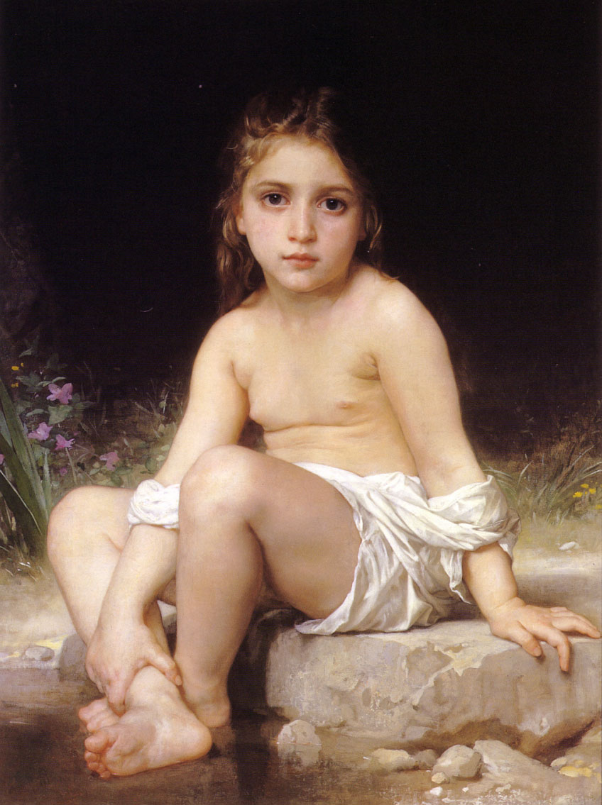 Bouguereau at 'Child Bath'