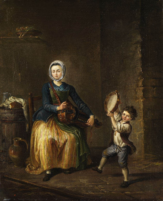 file young w hurdy gurdy th century jpg  file young w hurdy gurdy 18th century jpg