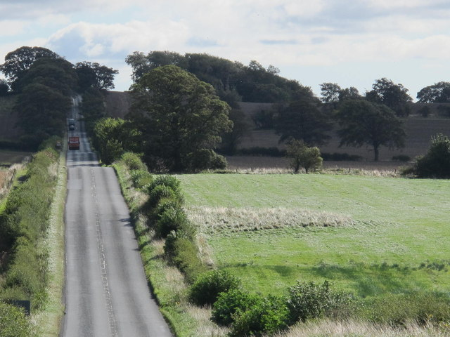 (The line of) Hadrian's Wall east of Harlow Hill; and Milecastle 15 - geograph.org.uk - 2602472