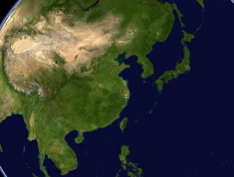 Satellitenaufnahme Volksrepublik Chian