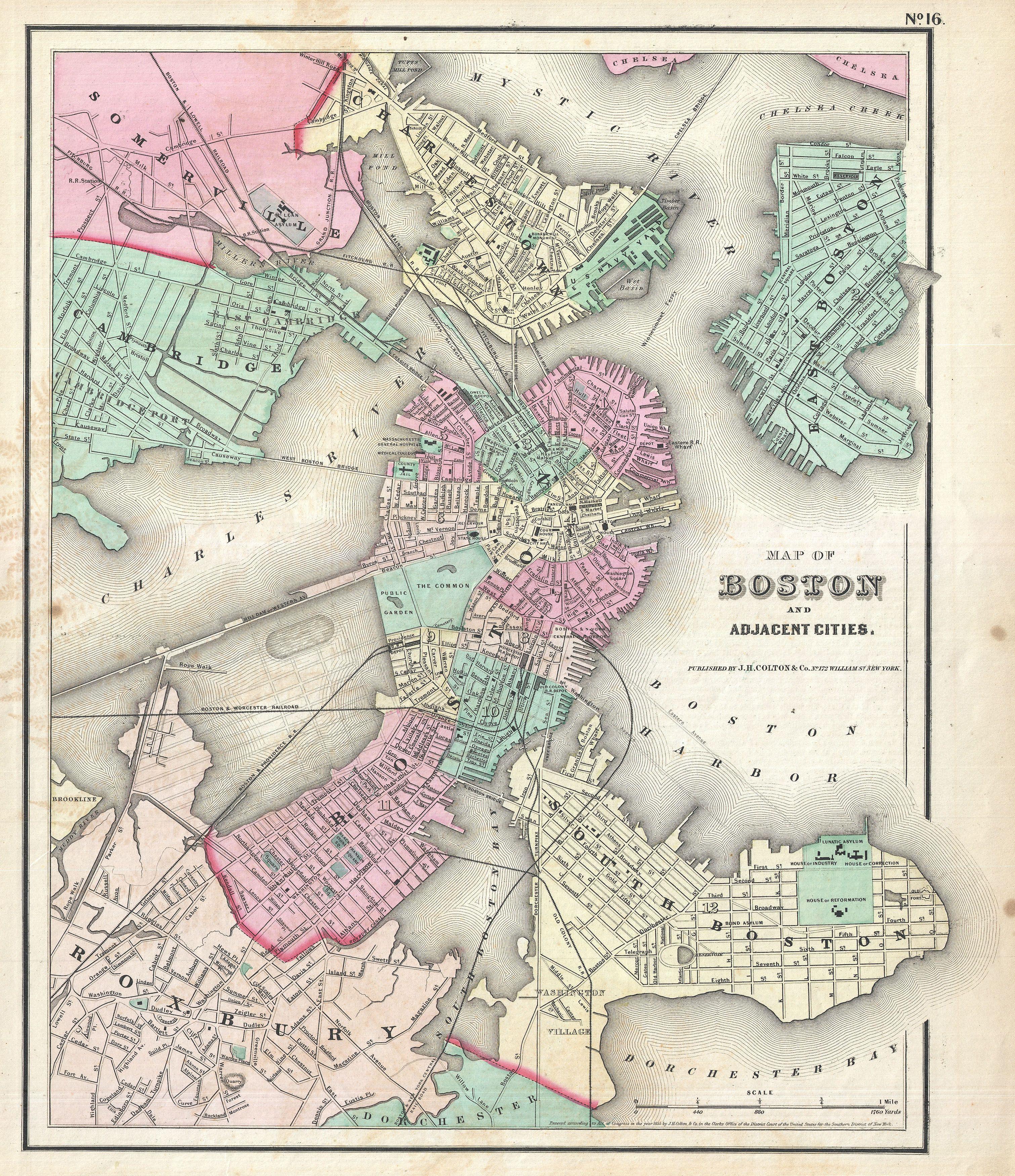 File 1857 Colton Map Of Boston Massachusetts