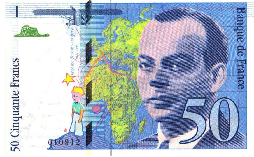 Billet De 50 Francs Saint Exupery Wikipedia