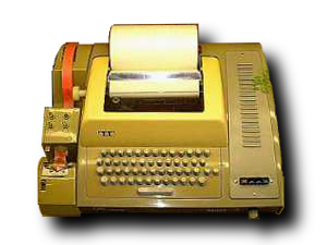 ASR 33 Teletype. A computer terminal manufactu...