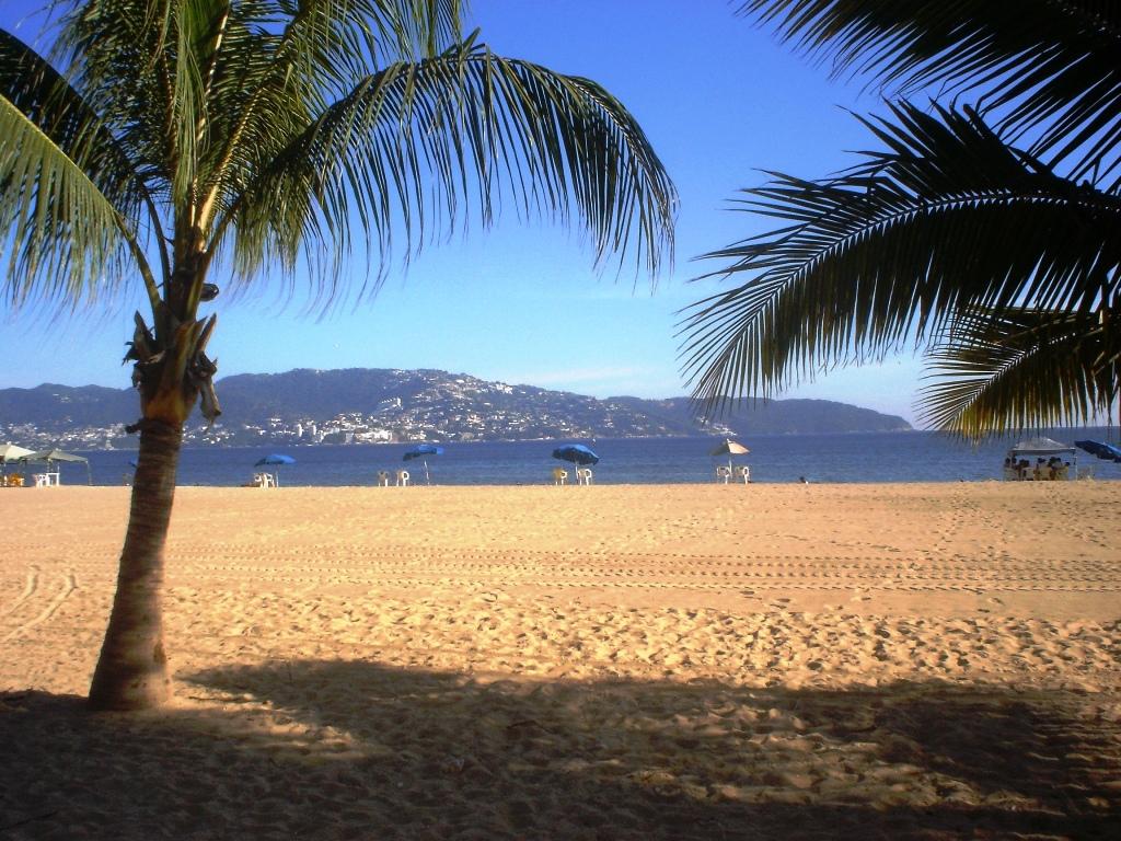 Vista de playa Hornos en Acapulco