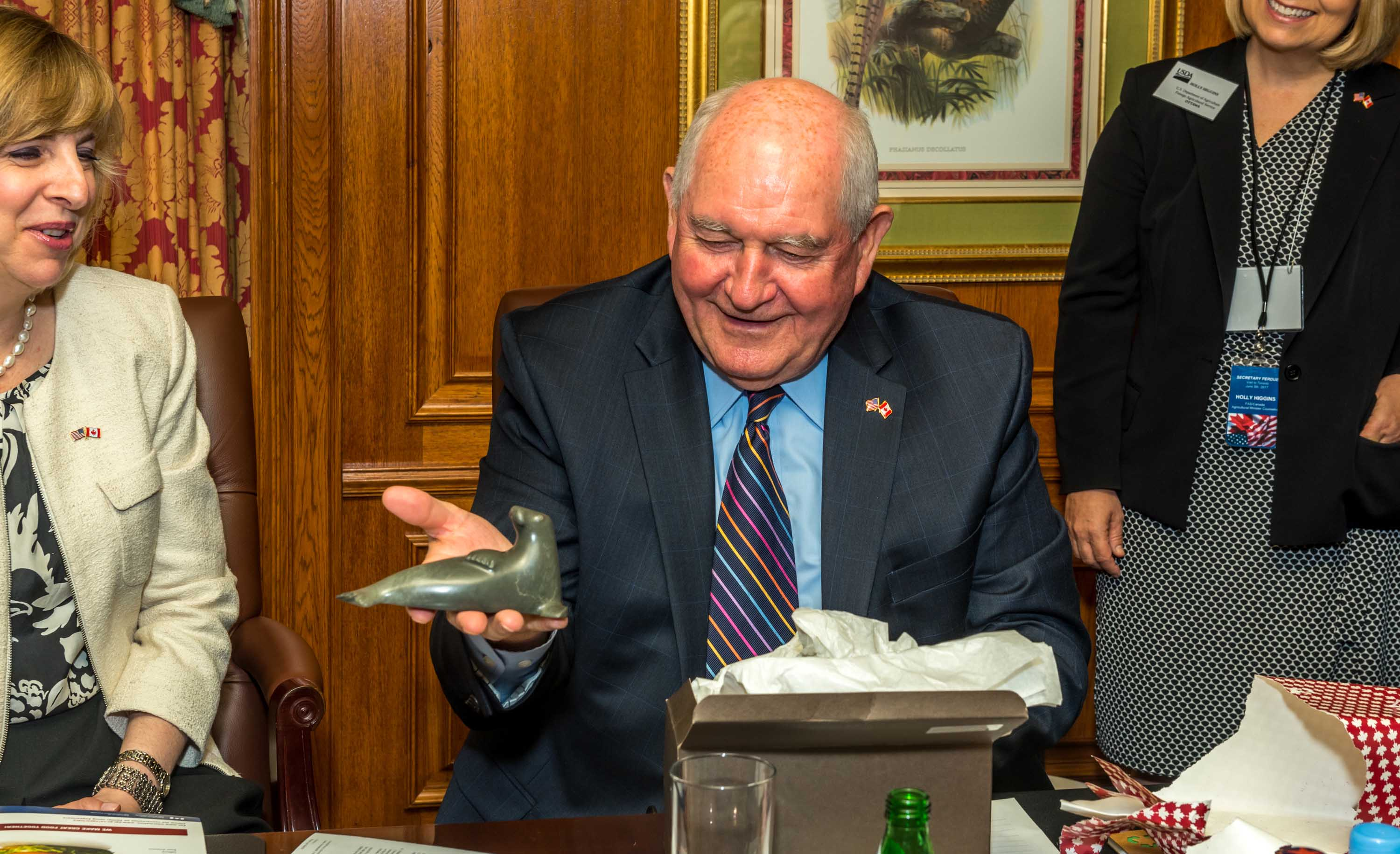 U.S. Agriculture Secretary Sonny Perdue visits Ontario County