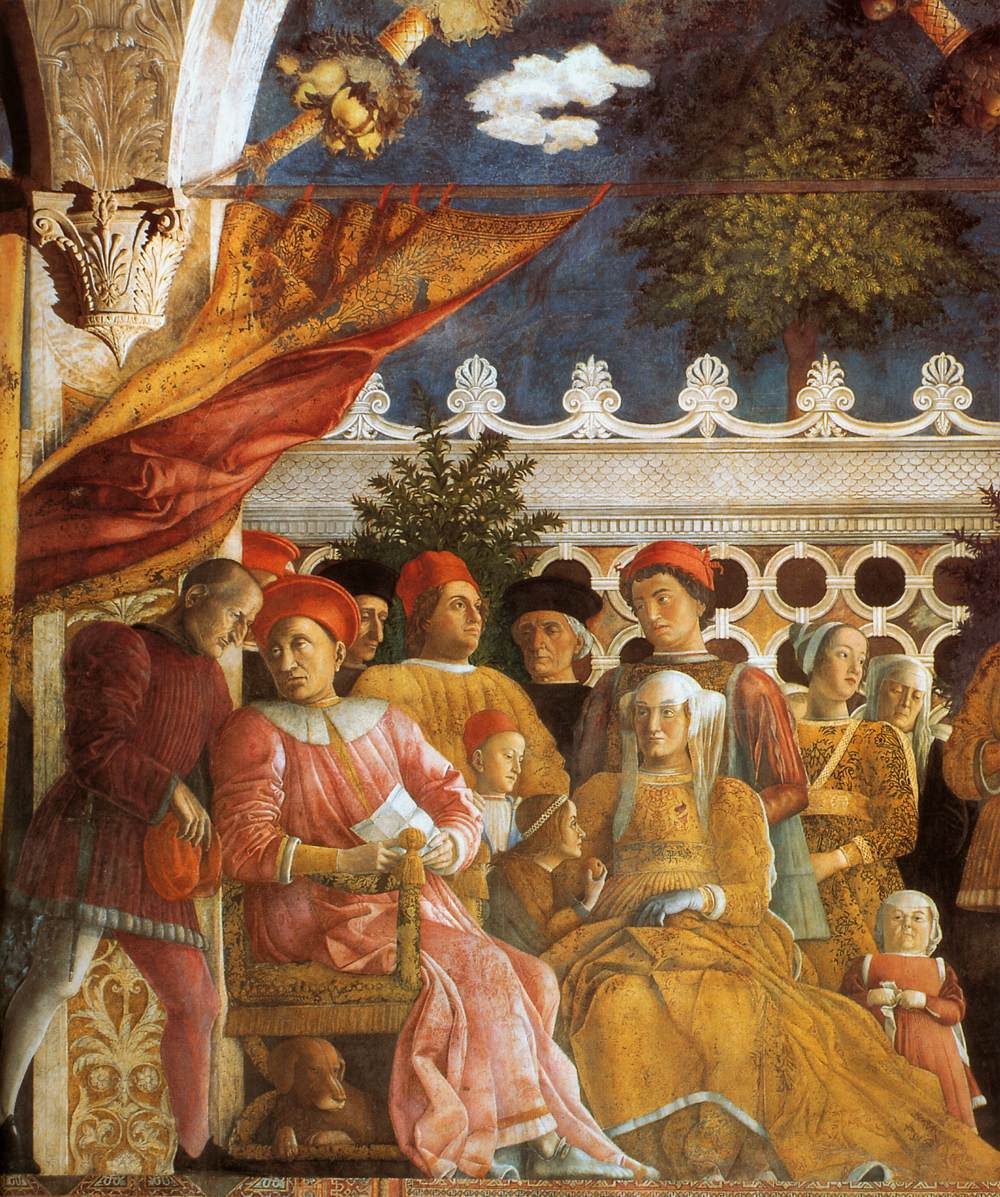 File andrea mantegna the court of gonzaga detail for Camera picta mantova