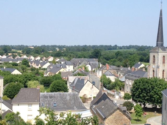 Vue du ciel de l'agglomération