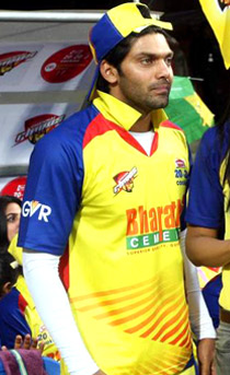 Arya viewing CCL match, India.jpg