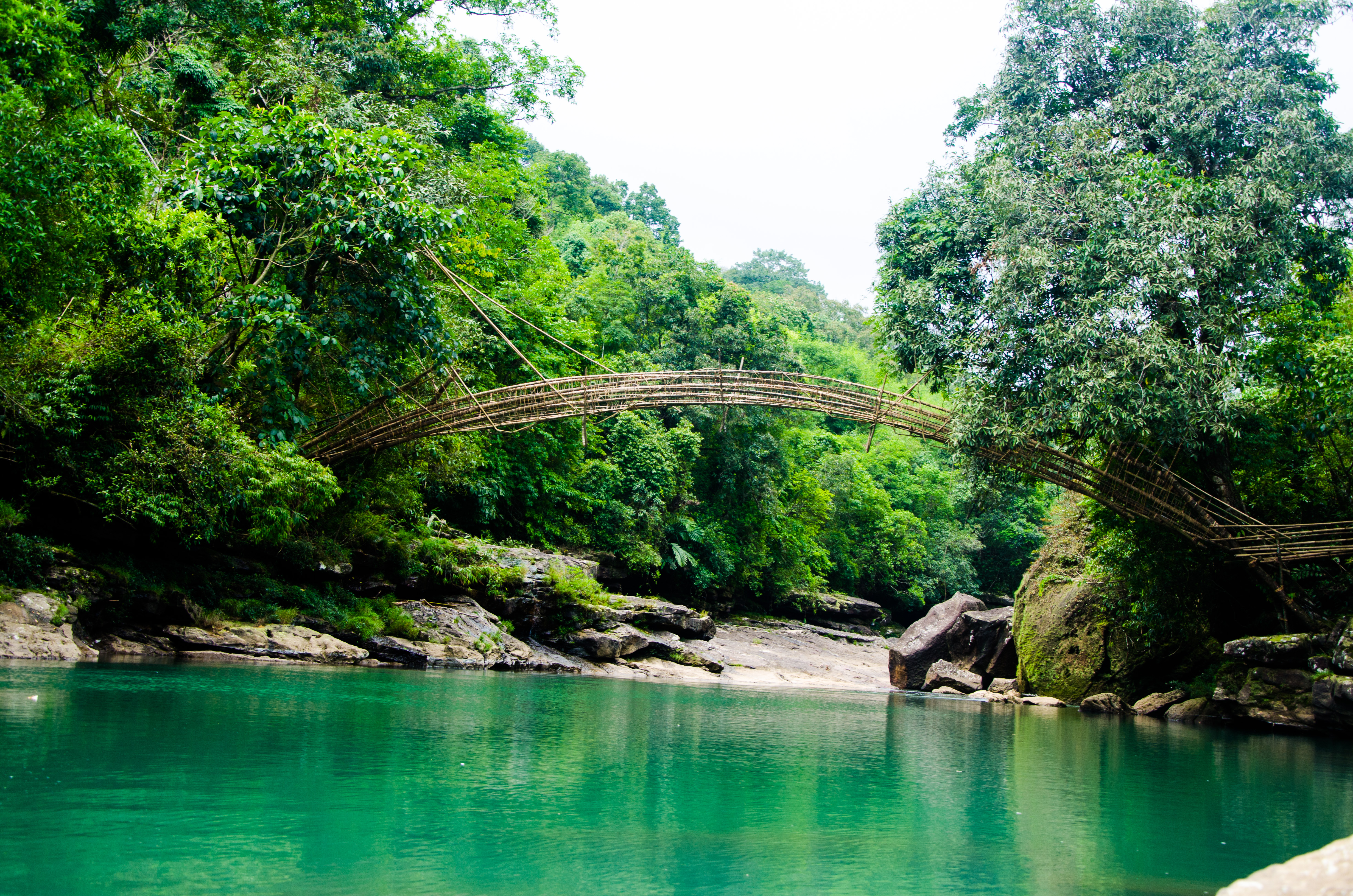 Arhitektura koja spaja ljude - Mostovi - Page 2 Bamboo_Bridge,_Meghalaya