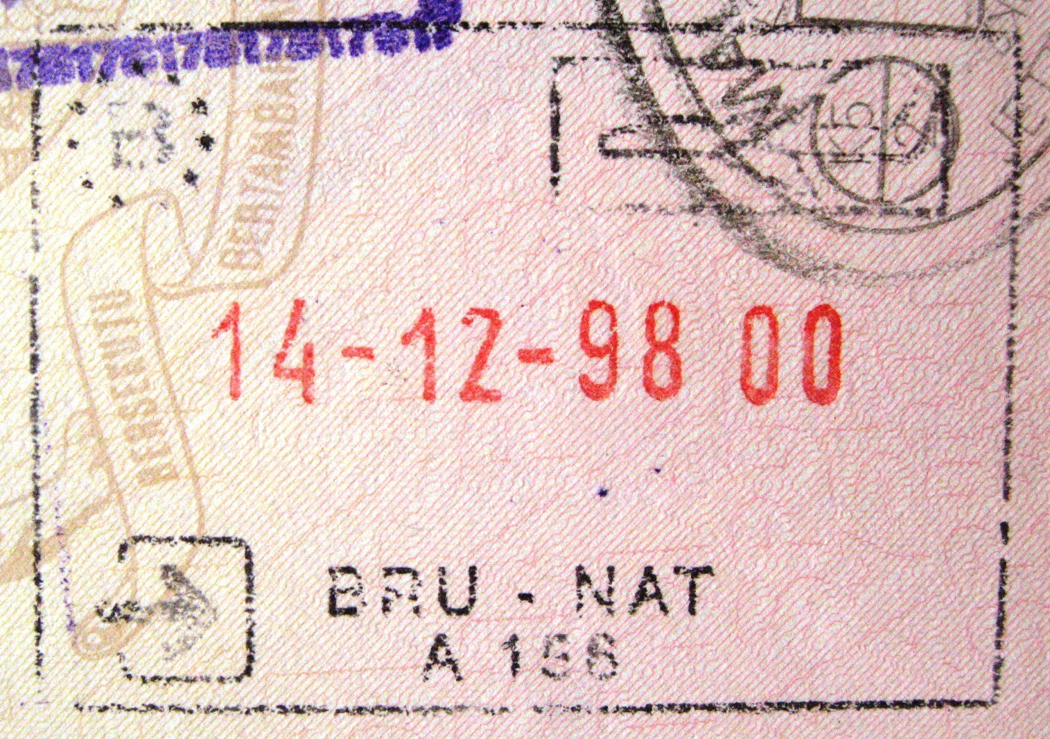 Image result for belgian passport stamp