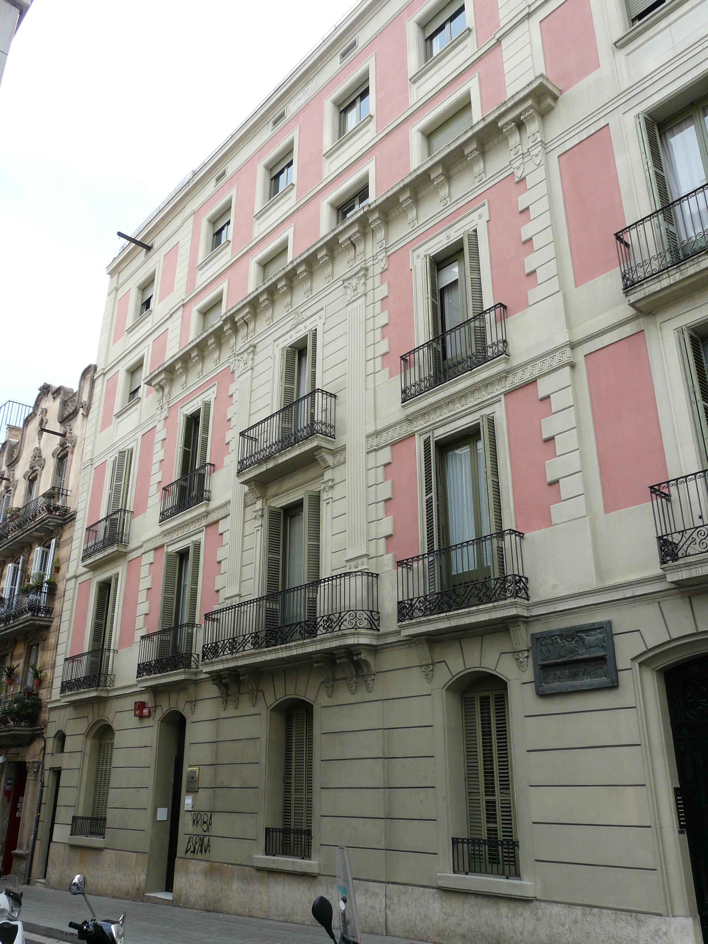 Casa del autor donde falleció. Actualmente se encuentra el Archivo Maragall.