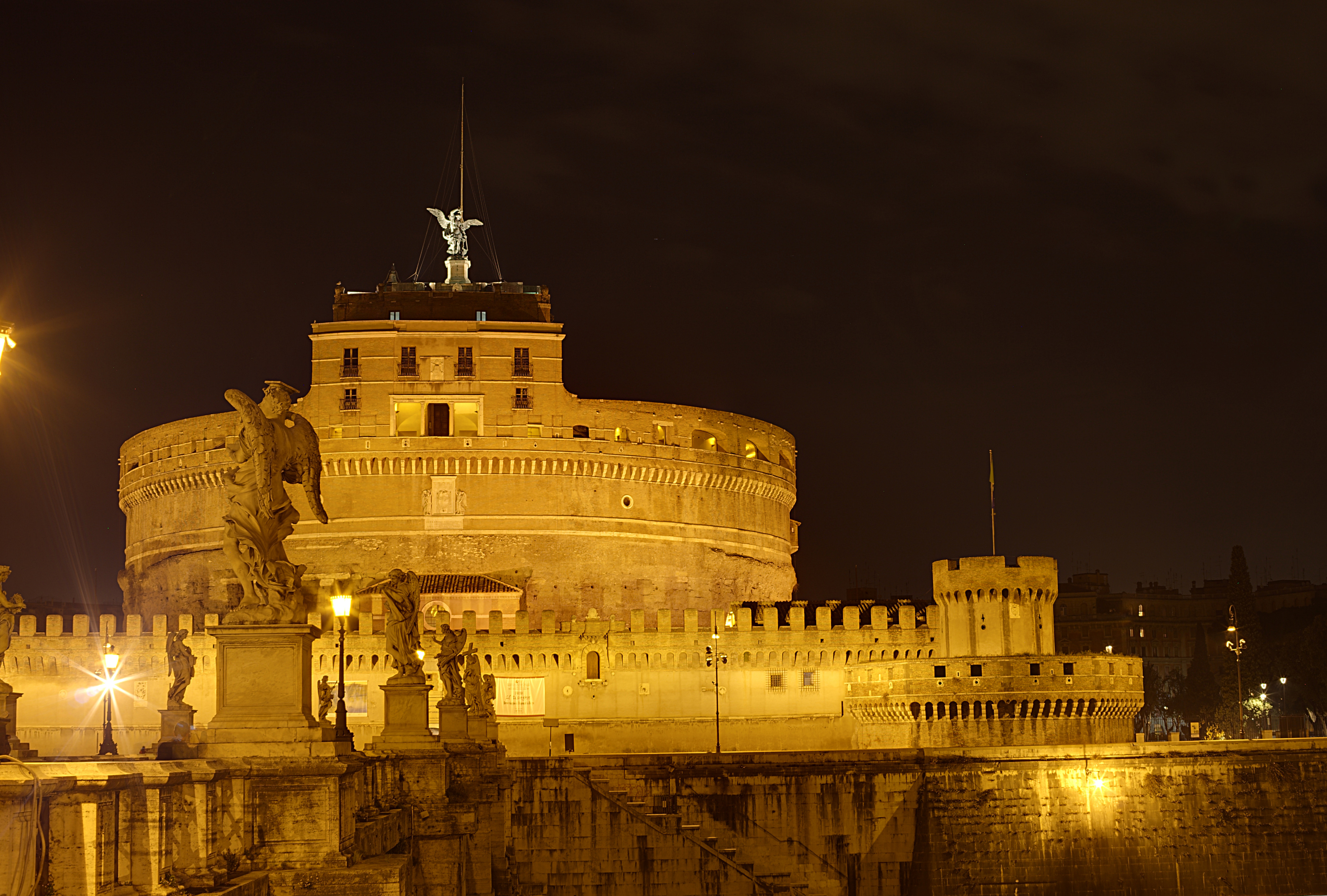 Castel Antangelo Rome Coloring Page