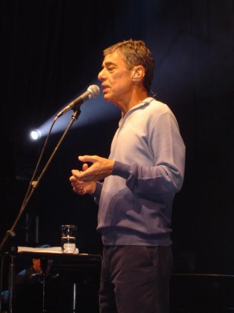 Chico Buarque, en concierto.