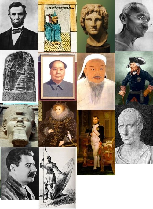 Historic pictures of leaders in the game CIVILIZATION
