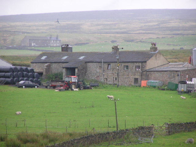 Corn Close, Laneshawbridge. A typical laithe farm with house attached to the barn