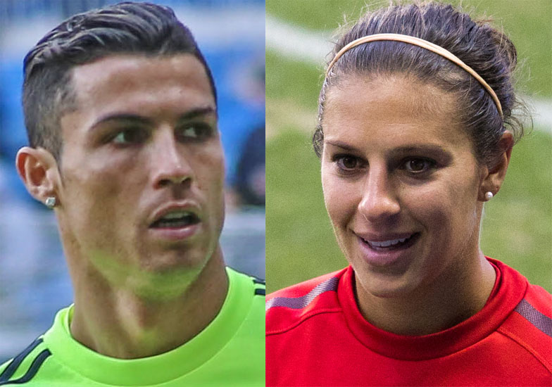 meistverkauft Größe 7 Turnschuhe für billige File:Cristiano Ronaldo (2016) and Carli Lloyd (2011).jpg ...