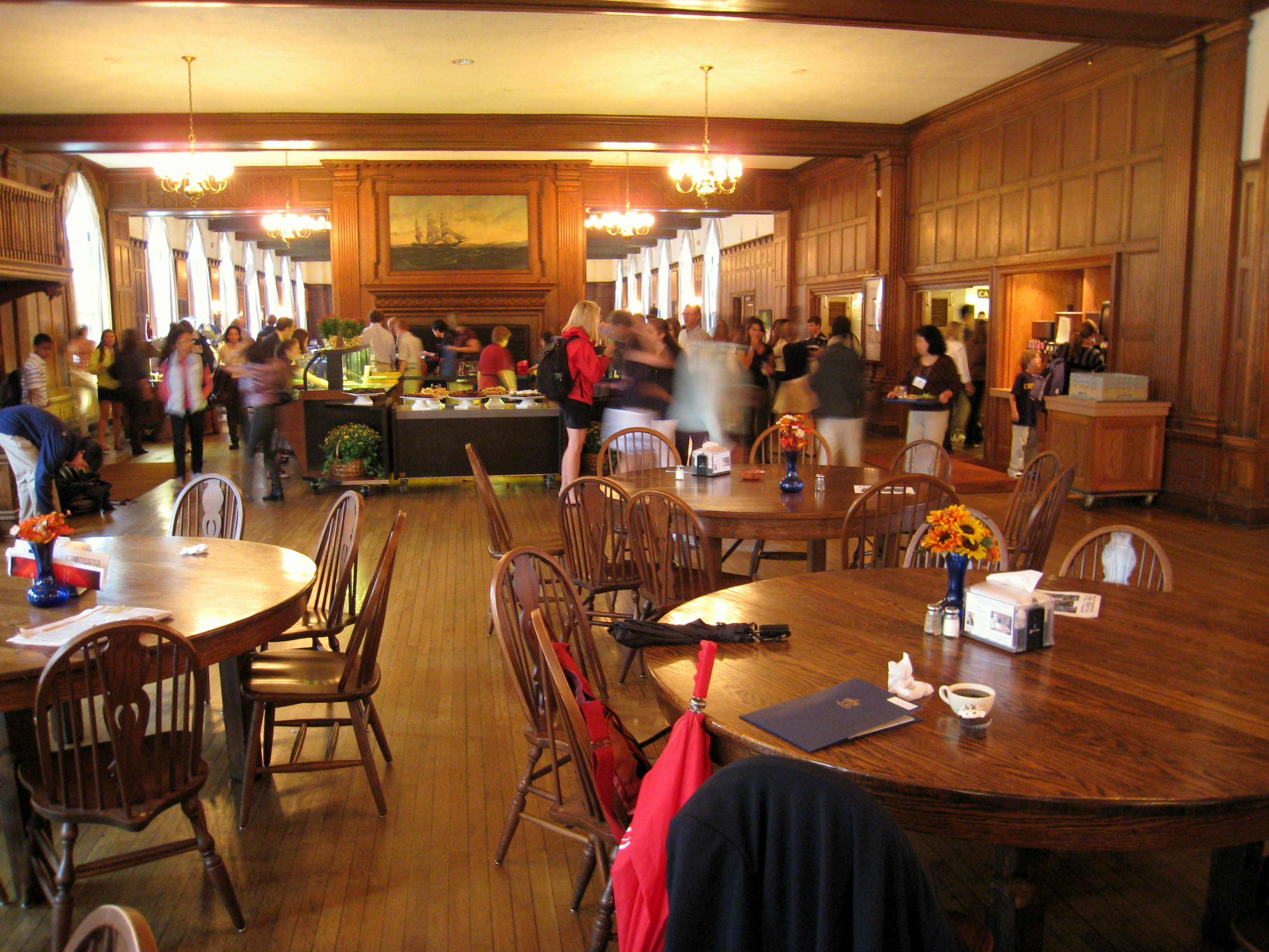 The dining hall in Hill House west wing