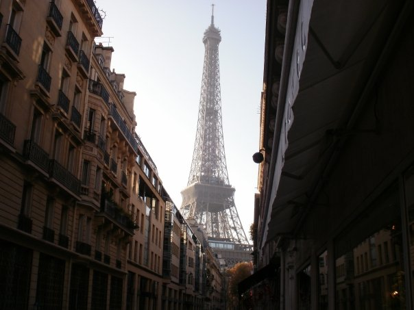 The Eiffel Tower seen from the rue de Monttessuy