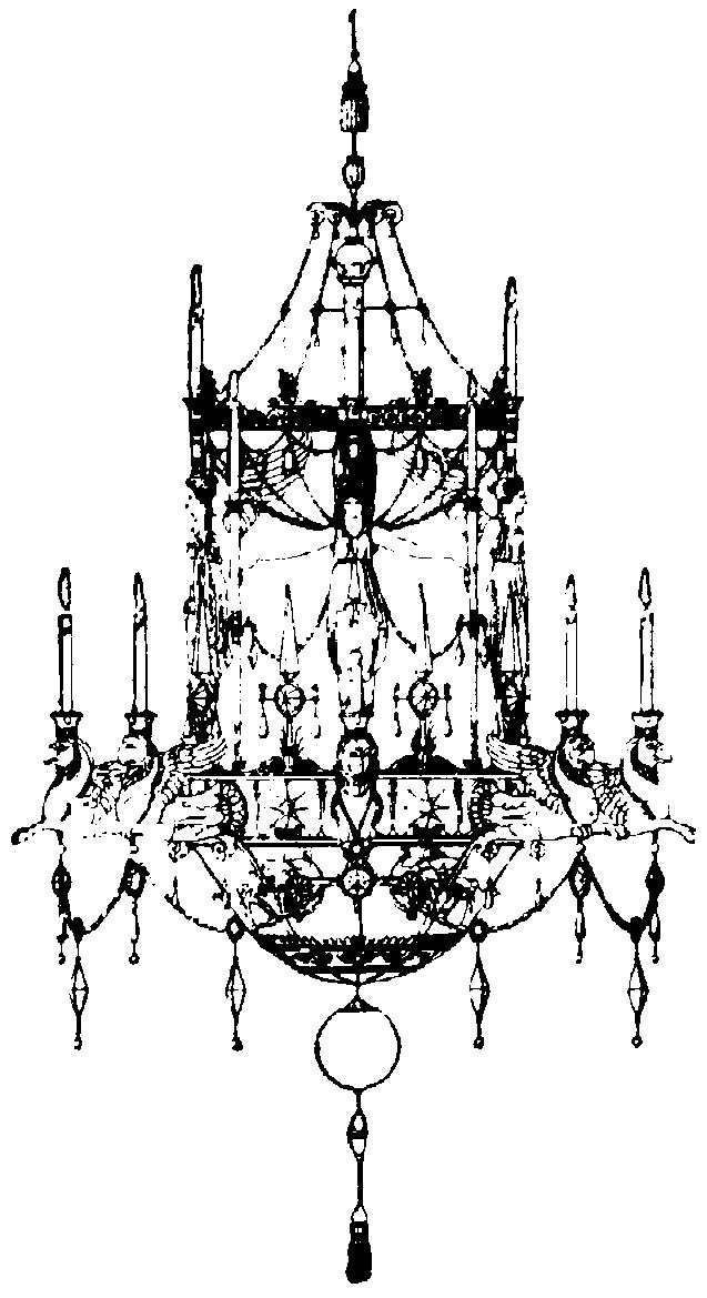 Ljuskrona i Empirestil