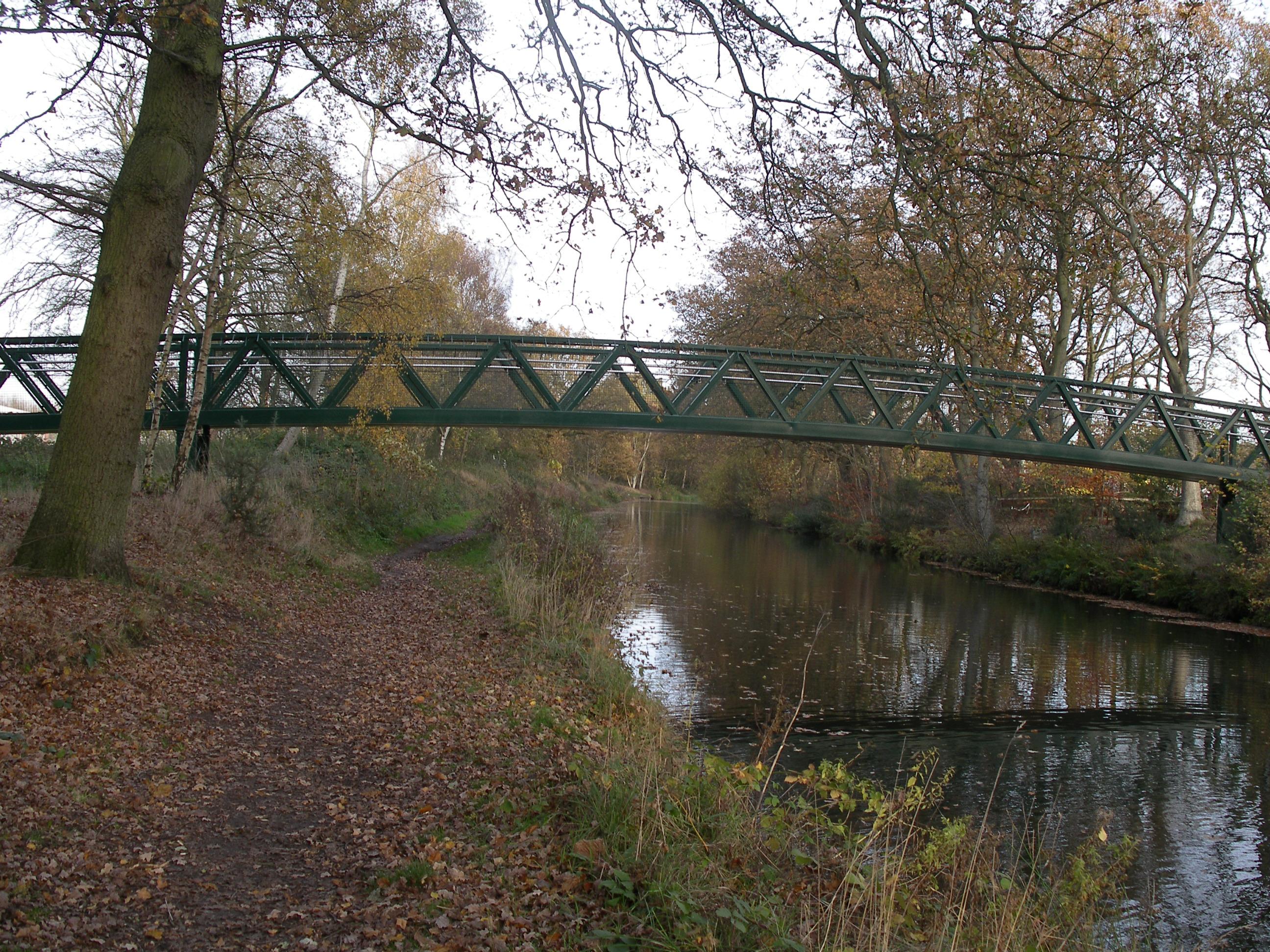 file foot bridge basingstoke canal aldershot geograph org uk