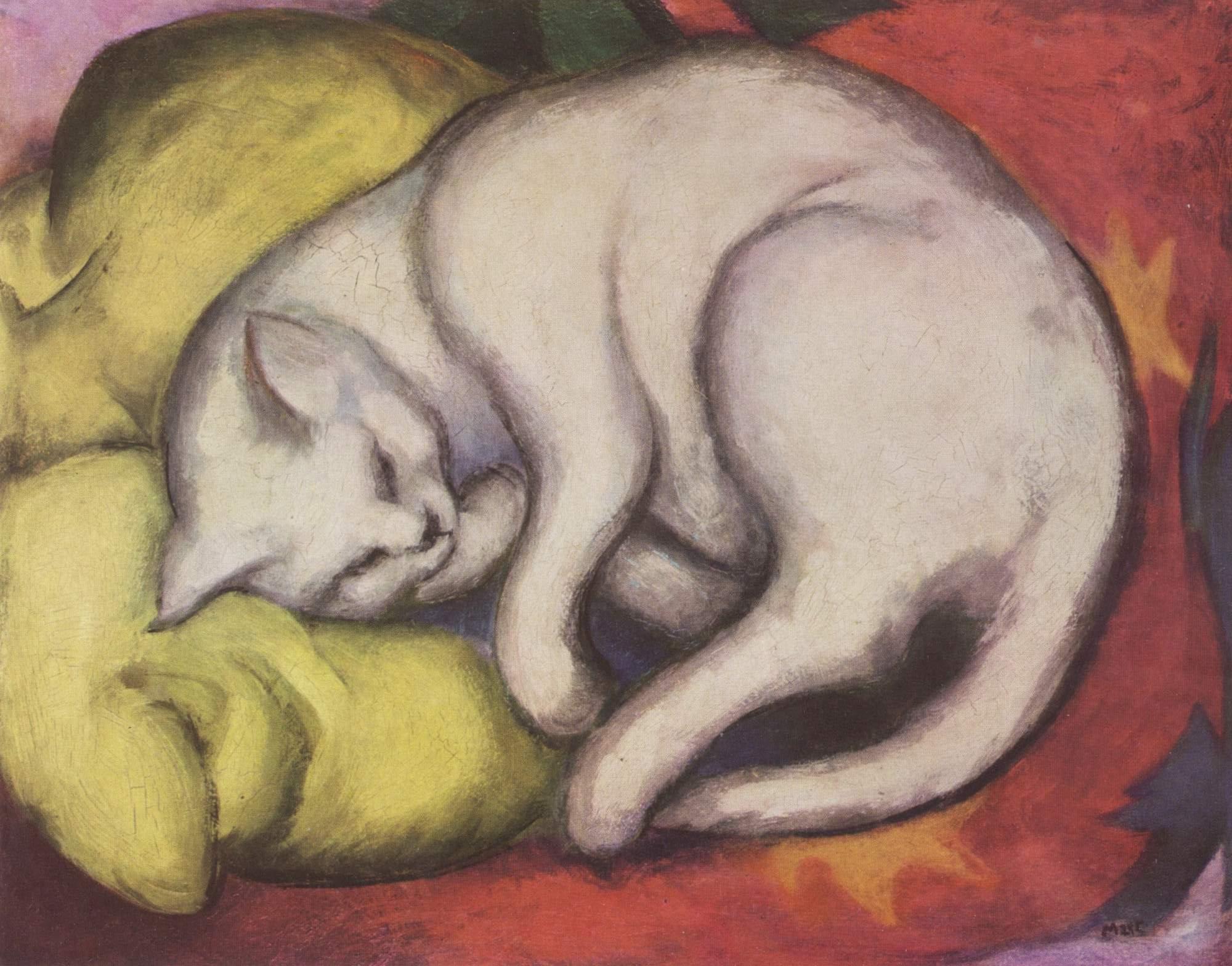 Franz Marc: Die weiße Katze, 1912