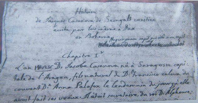 Giacomo Casanova Manuskript - Kapitel 1 - Seite 1