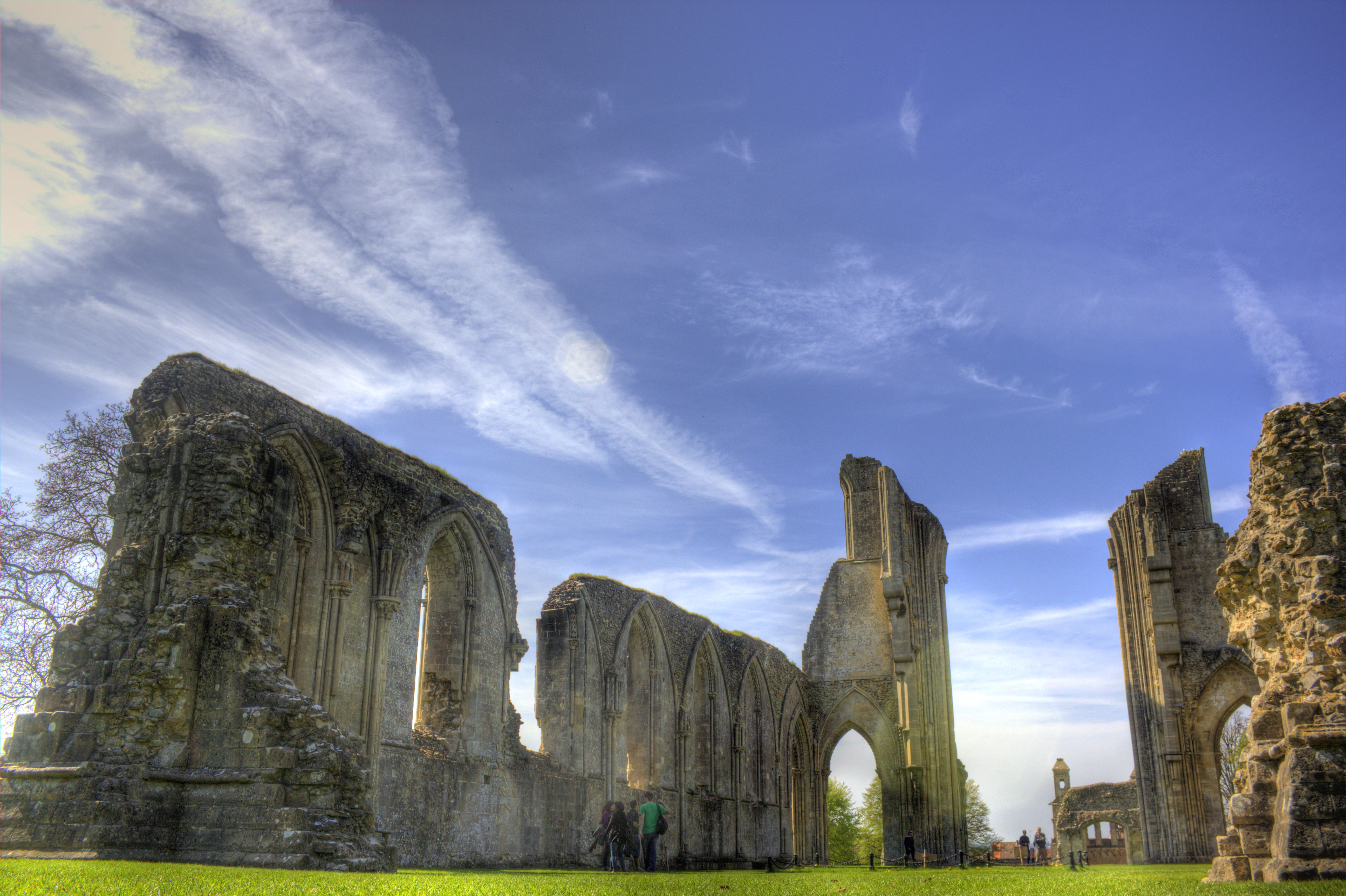 An image of Glastonbury Abbey.