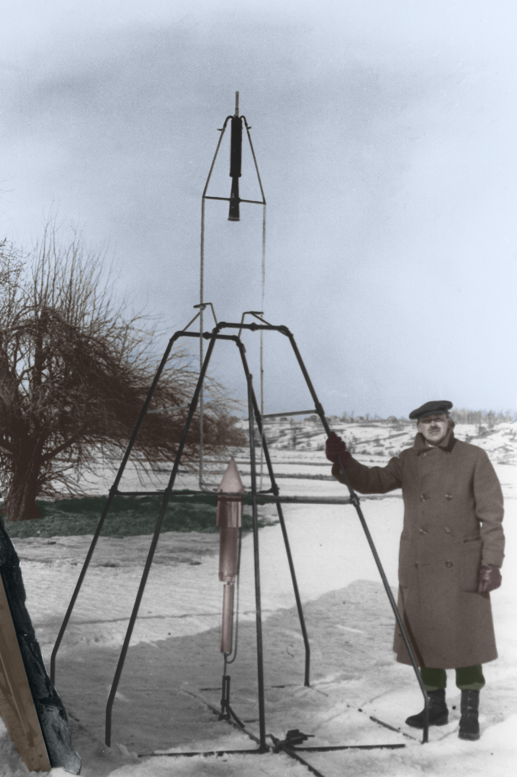 Robert Gooddard and His First Rocket, 1926