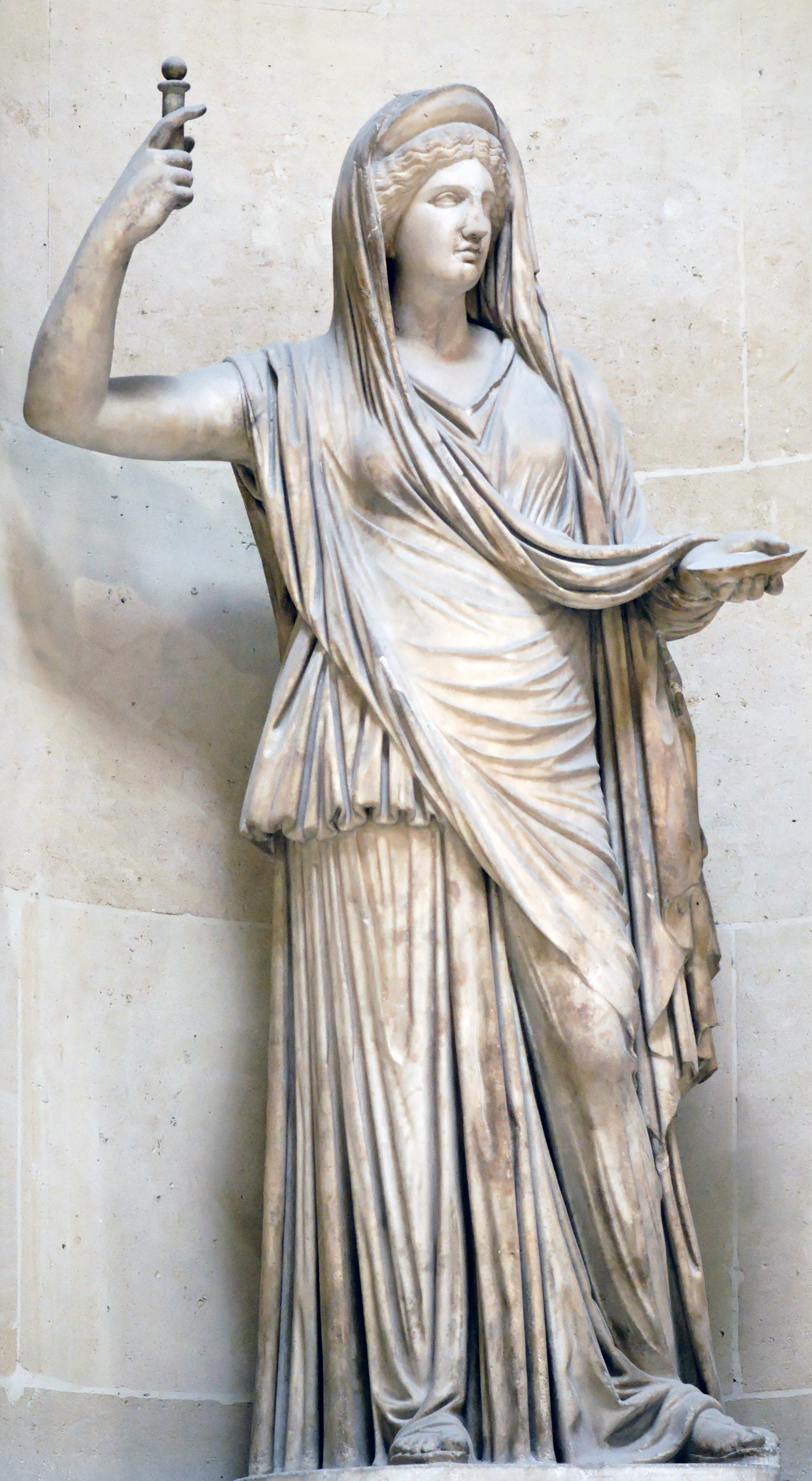 An image of Hera, goddess of marriage.