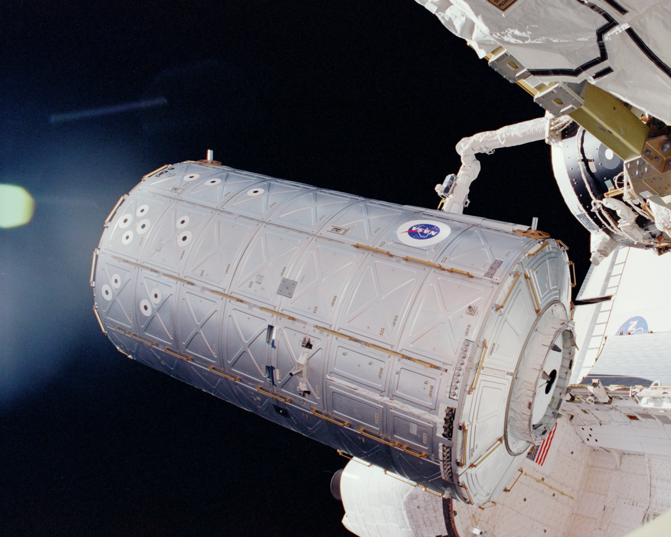 Foto vom  ISS Destiny Lab module Deutsch...