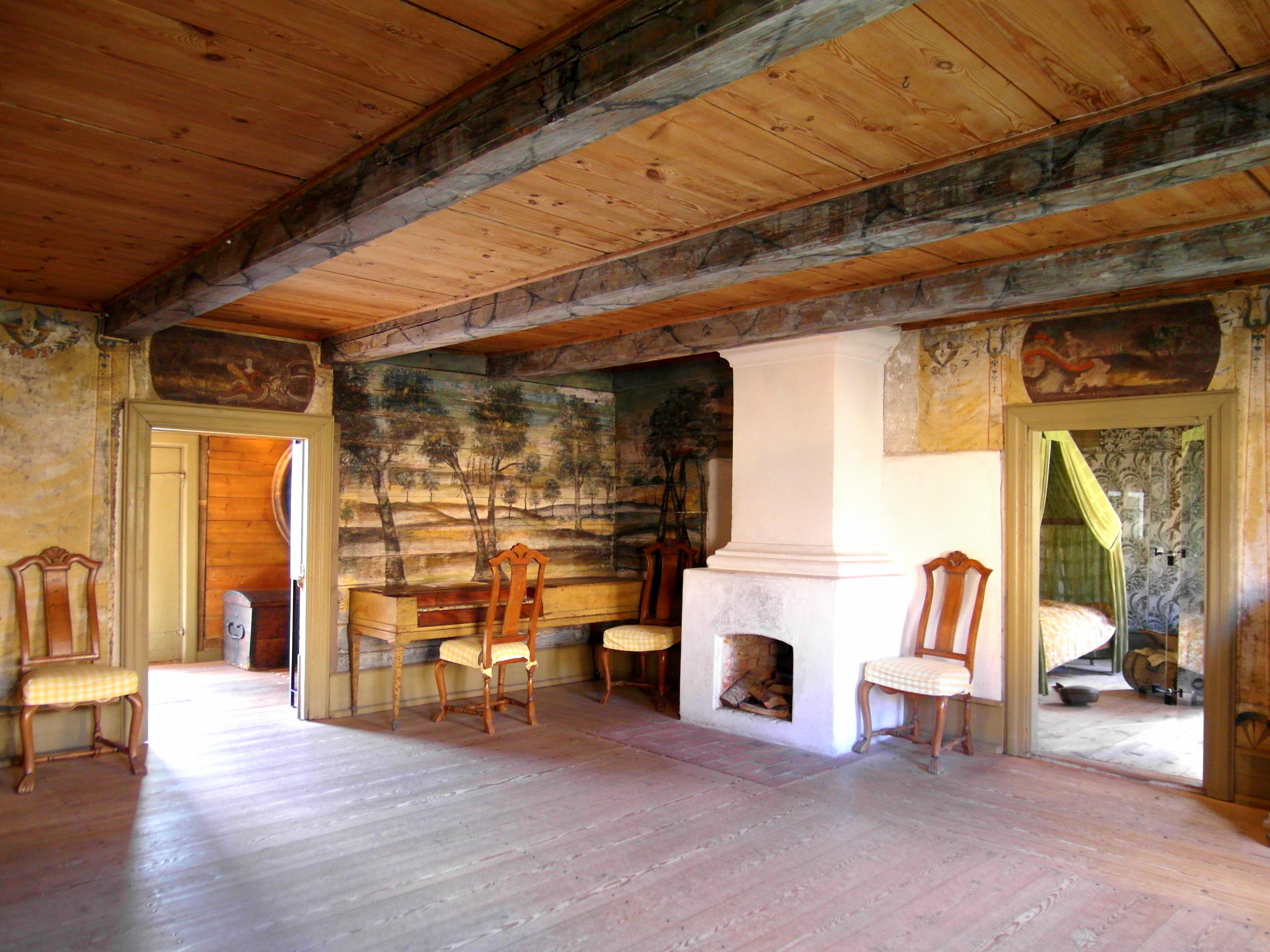 File:interör från västra vrams prästgård   vardagsrummet i ...