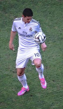 James with Real Madrid in 2014 James Rodriguez - panoramio.jpg