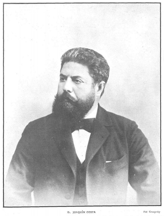 Retrato de Joaquín Costa, obra de Manuel Compañy.
