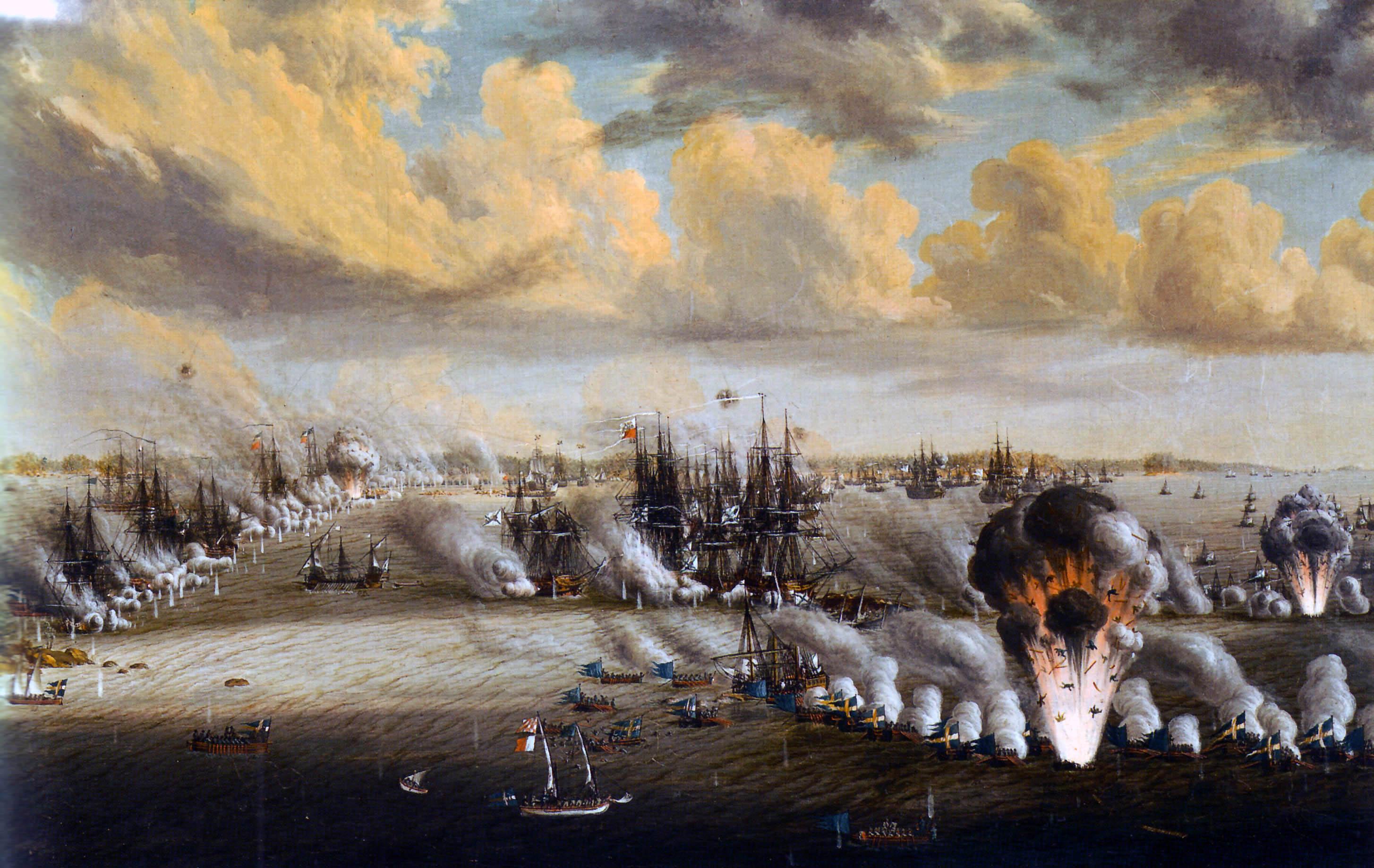 Johan Tietrich Schoultz målning Slaget vid Svensksund.jpg