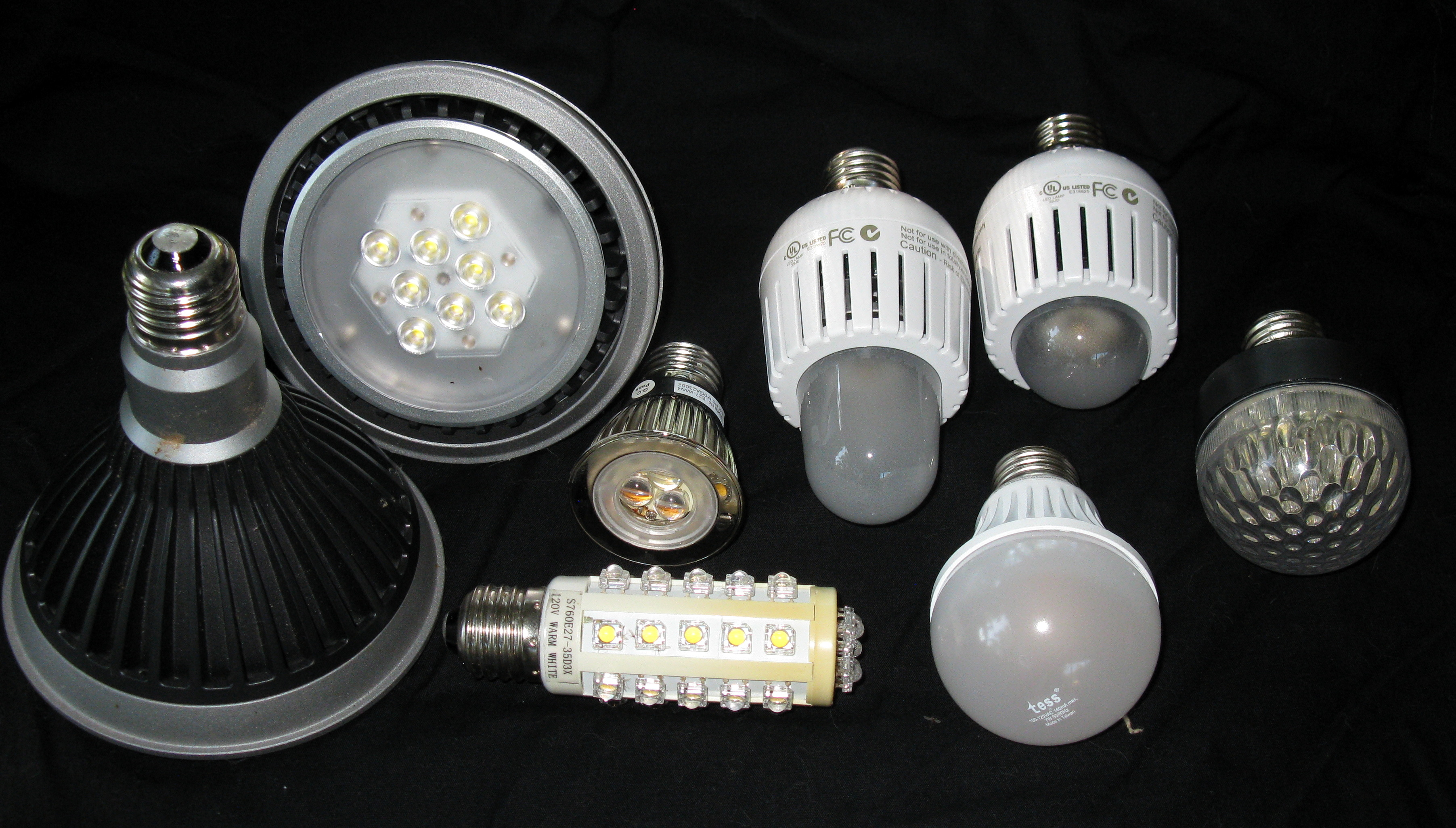 Led Lamp Fixtures an Assortment of Led Lamps