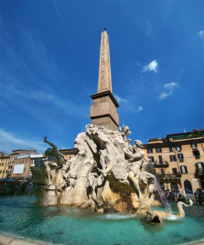Fontana dei Quattro Fiumi - Wikipedia