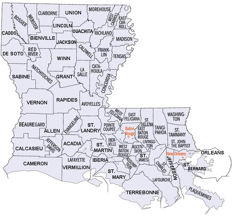 parishes in louisiana map File Louisiana Parishes Map Magnified Jpg Wikimedia Commons parishes in louisiana map