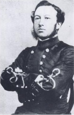Example of Confederate Marine Corps uniform (Confederate Marine Lt Frances H. Cameron in 1864)