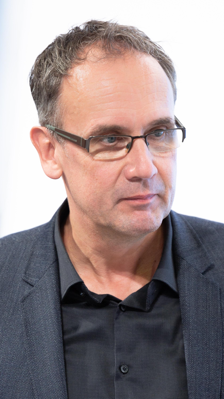 Kutscher at the [[Frankfurt Book Fair]] 2018