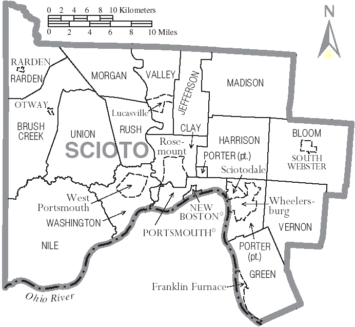 Township Map-Scioto County Ohio