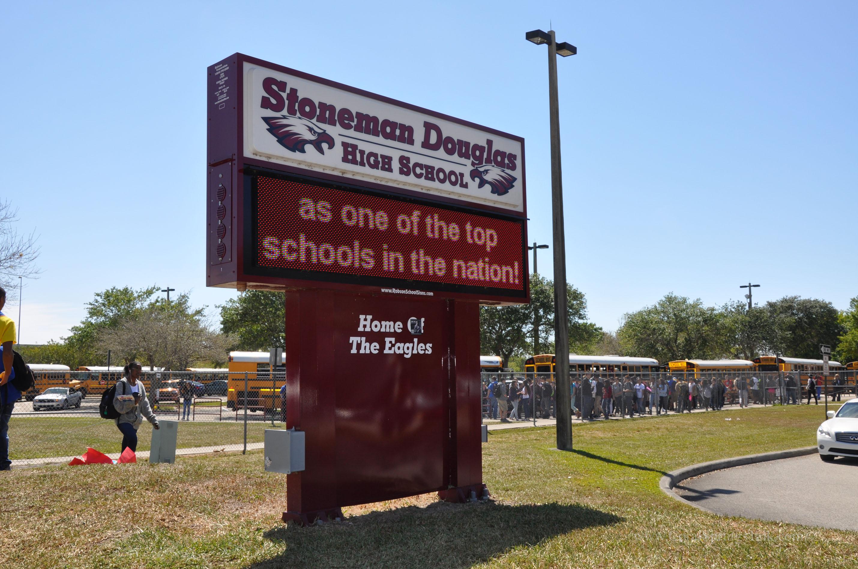 Image result for pics of stoneman douglas high school