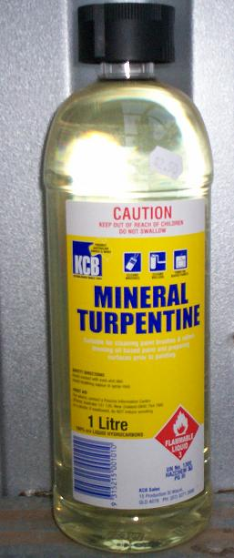 Turpentine for Solvent based glass paint