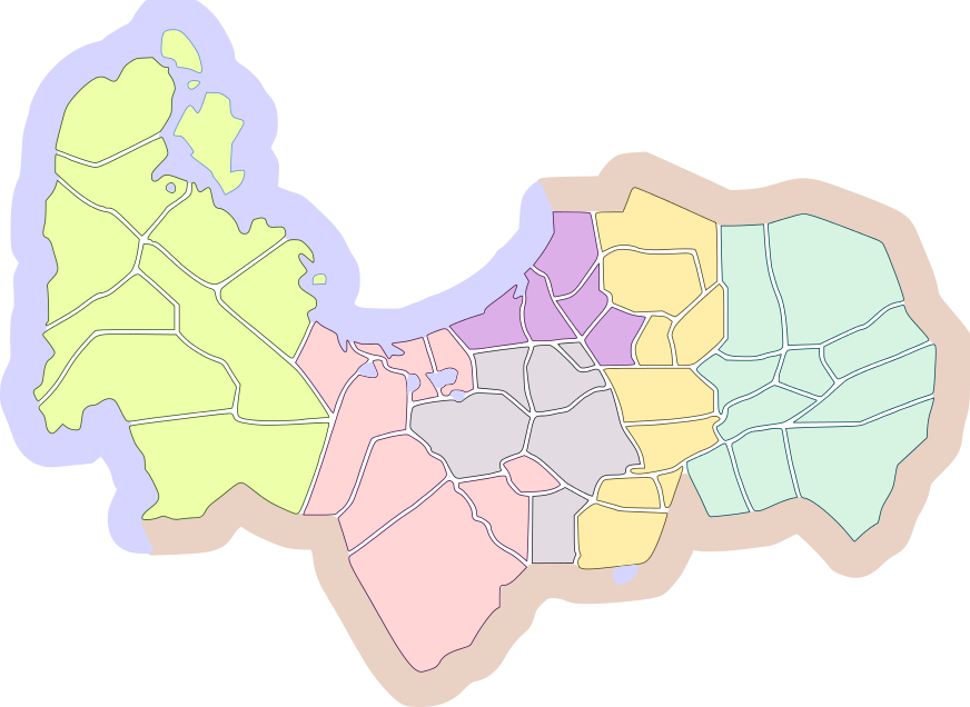 Pangasinan Colored Legislative District Map.png